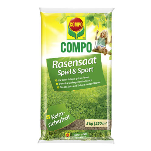 COMPO Rasensaat Spiel und Sport 4kg für 220m²