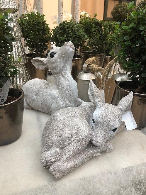 Reh weiß-grau, verschiedene Größen ab