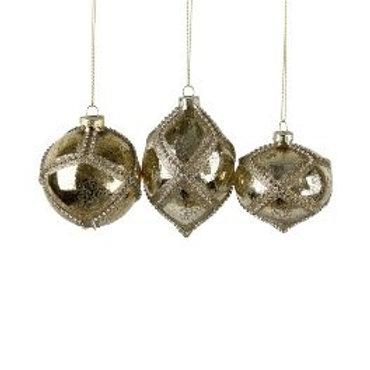 Glashänger antik gold, verschiedene Formen