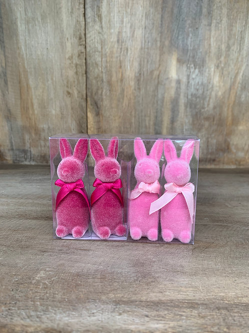 Hasen Set rosa/pink