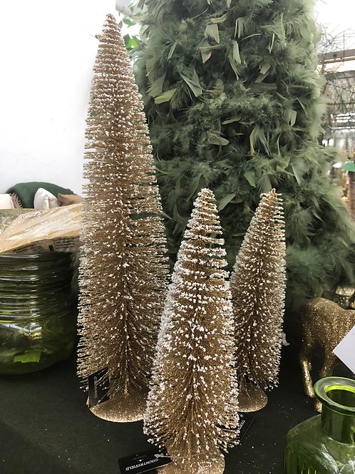Baum gold, Glimmer, verschiedene Größen ab