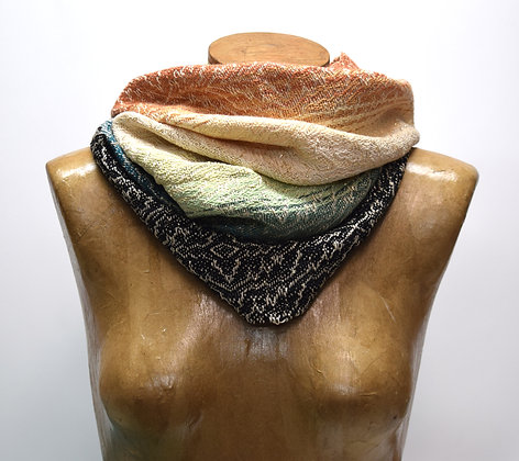 Gold Colorblock Cowl