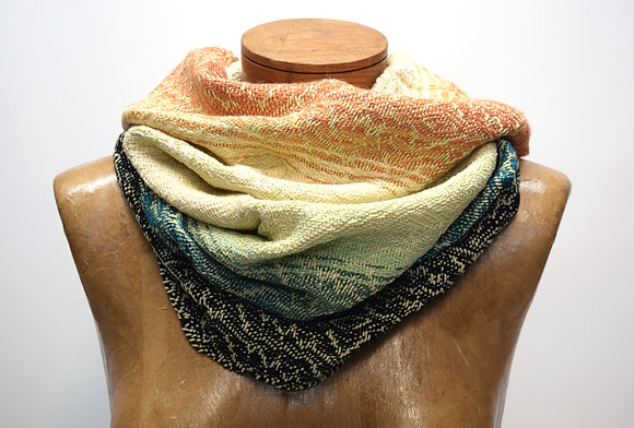 Sage Colorblock Cowl