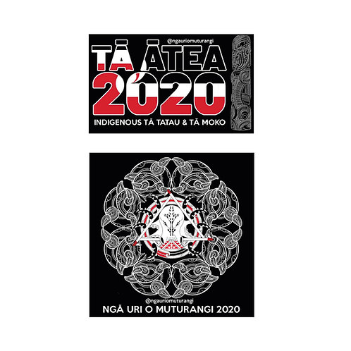Ngā Uri o Muturangi Sticker Pack