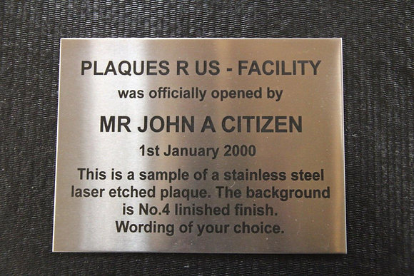 Stainless Steel Plaque - 600mm x 400mm ( A2 )
