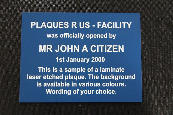 Impact Acrylic plaque - 150mm x 100mm  ( A6 )