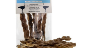 JR Pet Products Braided Ostrich 5pk
