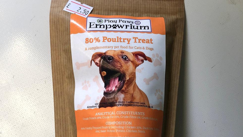 Play Paws Empawrium 80% Poultry Treats