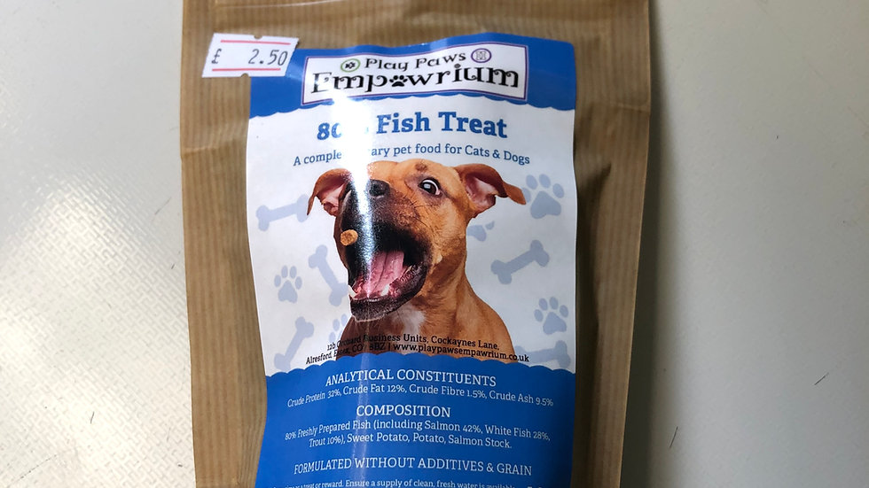 Play Paws Empawrium 80% Fish Treats