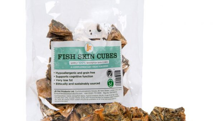 JR Pet Products Fish Skin Cubes 75g