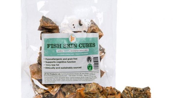 JR Pet Products Fish Skin Cubes 75g