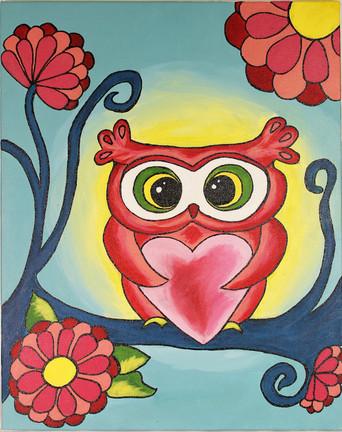 Groovy Valentines Owl