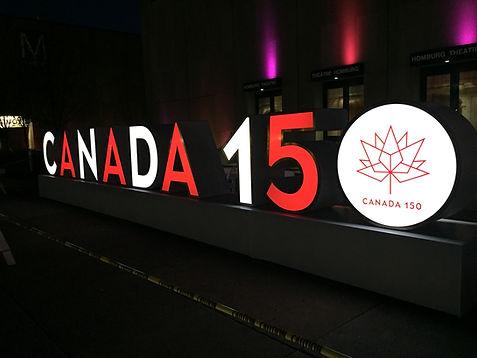 TAD LED Canada 150 Sign