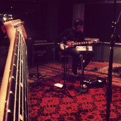 Tracking guitars at Converse Rubber Tracks Studios in Brooklyn, NY