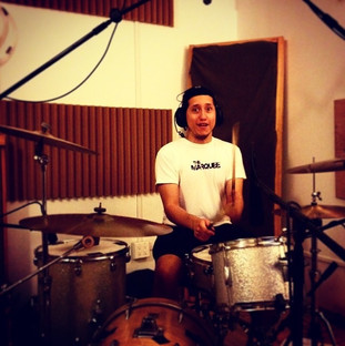 Tracking drums for The Winchester Local at The Gallery Studios Brooklyn with Brian Forbes
