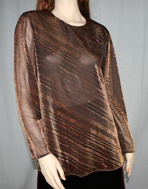 Vintage Blouse Evening Bronze Casadei Stitches