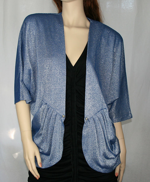 70s Jacket Batwing Lurex Size 12 Sexy Disco