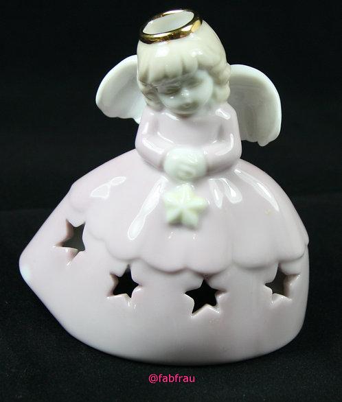 Angel Tea Light Candle Holder Pink