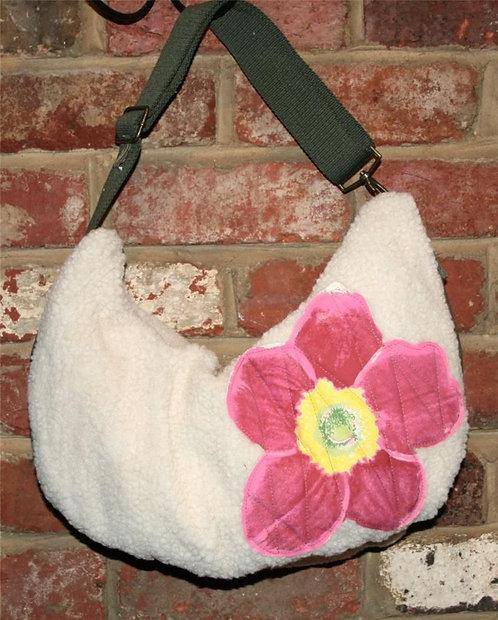 Shoulder Bag Fleece NEW Flower Power