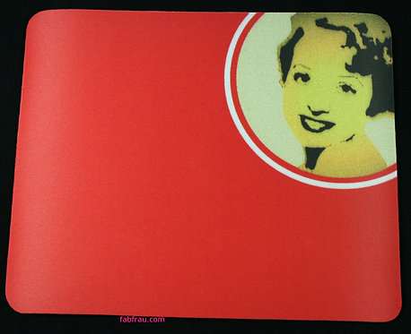 Mousemat Vintage Woman Red NEW