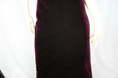 Vintage Velvet Skirt Cue Design Size 8 80s