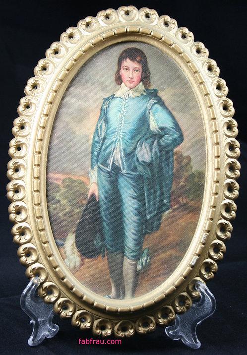 Vintage Blue Boy Framed Gold 1960s