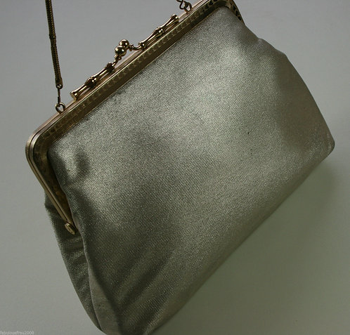 Retro Evening Handbag Vintage Gold Bronze 60s