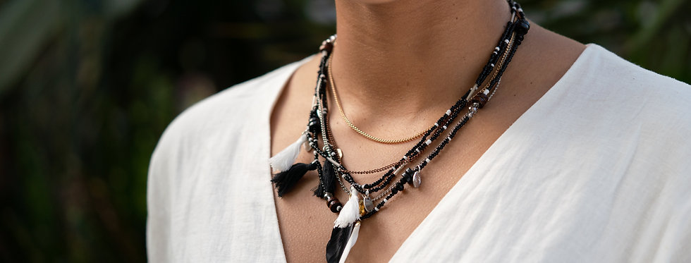 Colibri Necklace Black