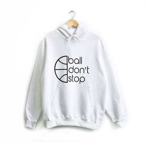 Ball Don't Stop Hoodie - White/Black