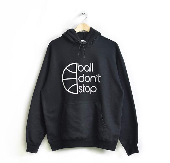 Ball Don't Stop Hoodie - Black/White