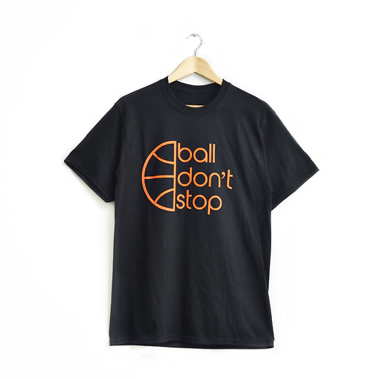 Ball Don't Stop Tee - Black/Orange