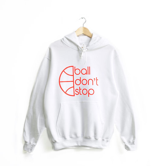 Ball Don't Stop Hoodie - White/Red