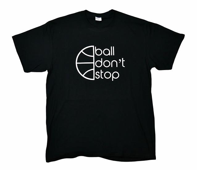 Ball Don't Stop Tee - Black/White