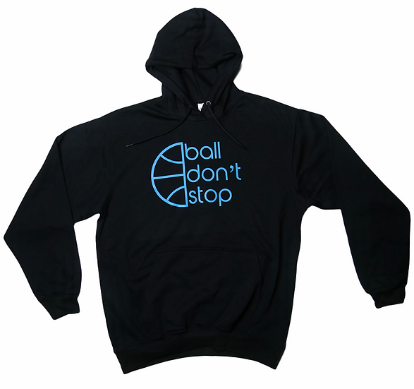 Ball Don't Stop Hoodie - Black/Baby Blue