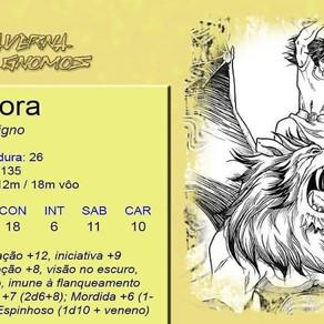 Ficha de Mantícora                          (Contribuição da Taverna dos Gnomos)
