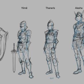 Evolução das ilustrações dos paladinos