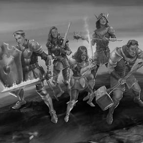 Os paladinos (Ilustração da capa quase finalizada)