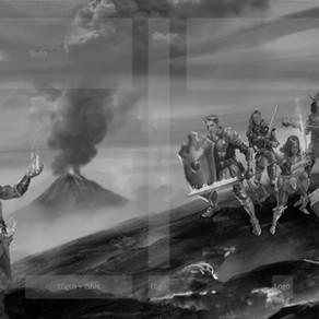 Evolução da Panorâmica da Capa das Crônicas de Luthera - Os Paladinos de Aterom