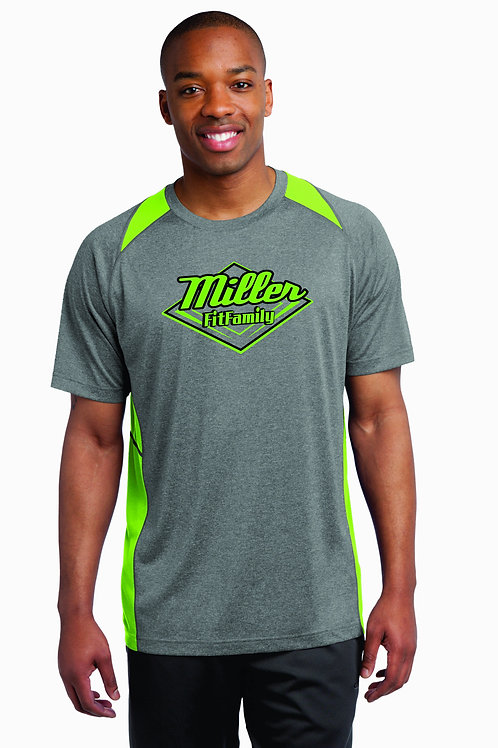 Mens Color Block Graphite/Lime