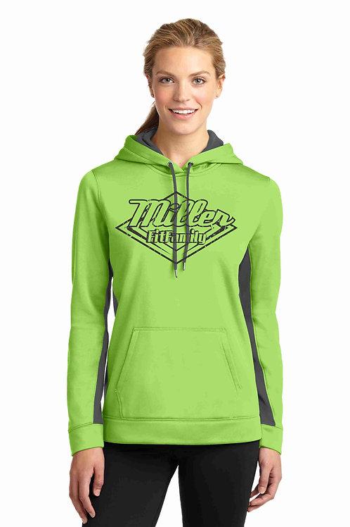 Ladies Colorblock Hooded Sweatshirt