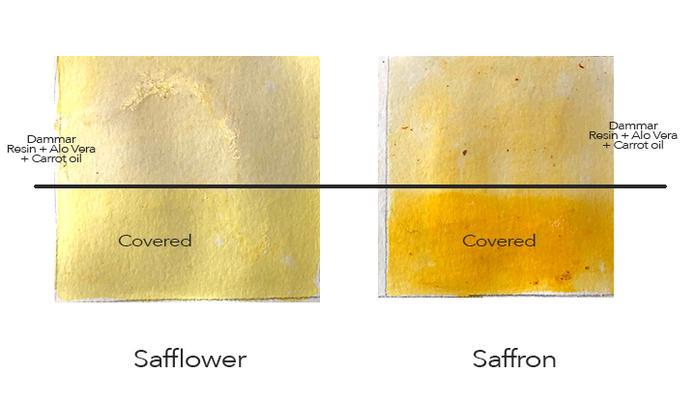Saffron, Dammar, Aloe Vera