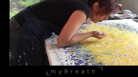 Painting with my Breath and Saffron