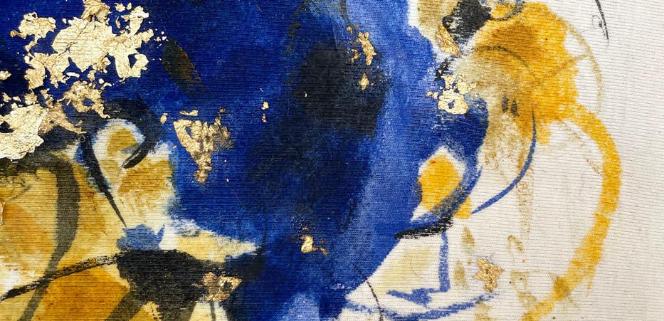 Detail of Blue and Saffron