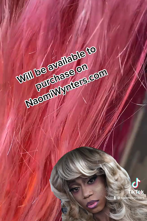 20inch Human Hair Pink Ombre Lacefront Wig