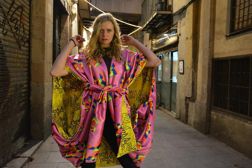 Velvet Cape Kimono reversible