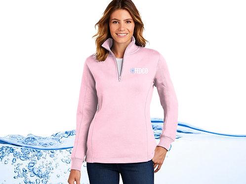 Ladies Quarter Zip Sweatshirt