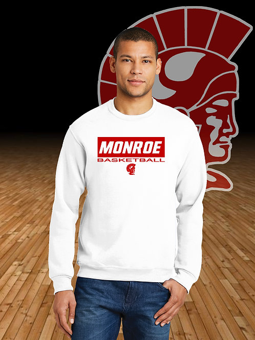 Monroe Basketball Block Logo Crewneck