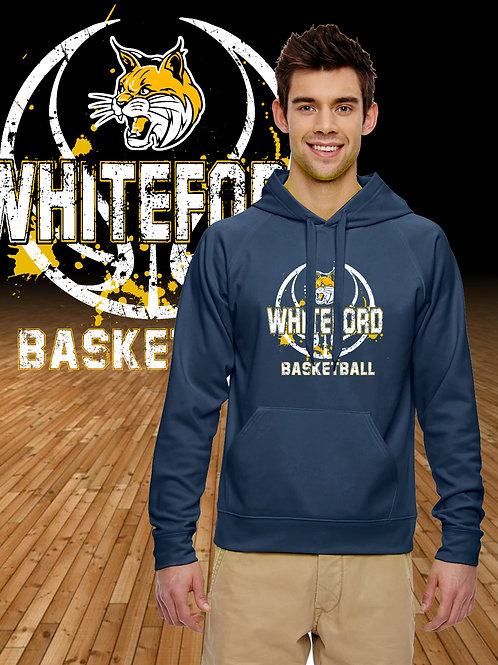 Distressed Whiteford Logo Perforance Hoodie