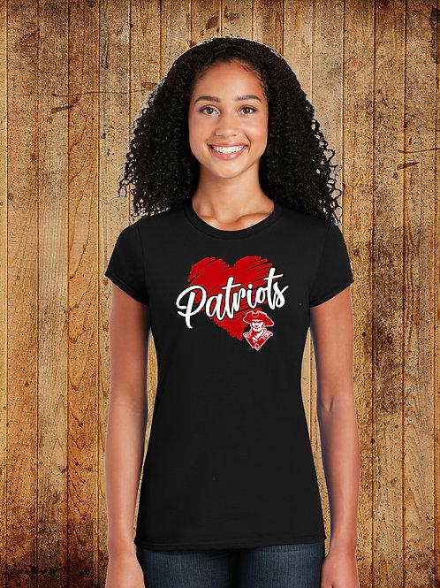 SLCS Spirit - Ladies - Patriot Heart Logo Tee