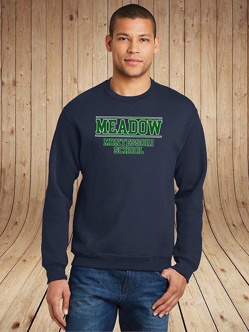 Meadow Montessori - Crewneck - Collegiate Logo